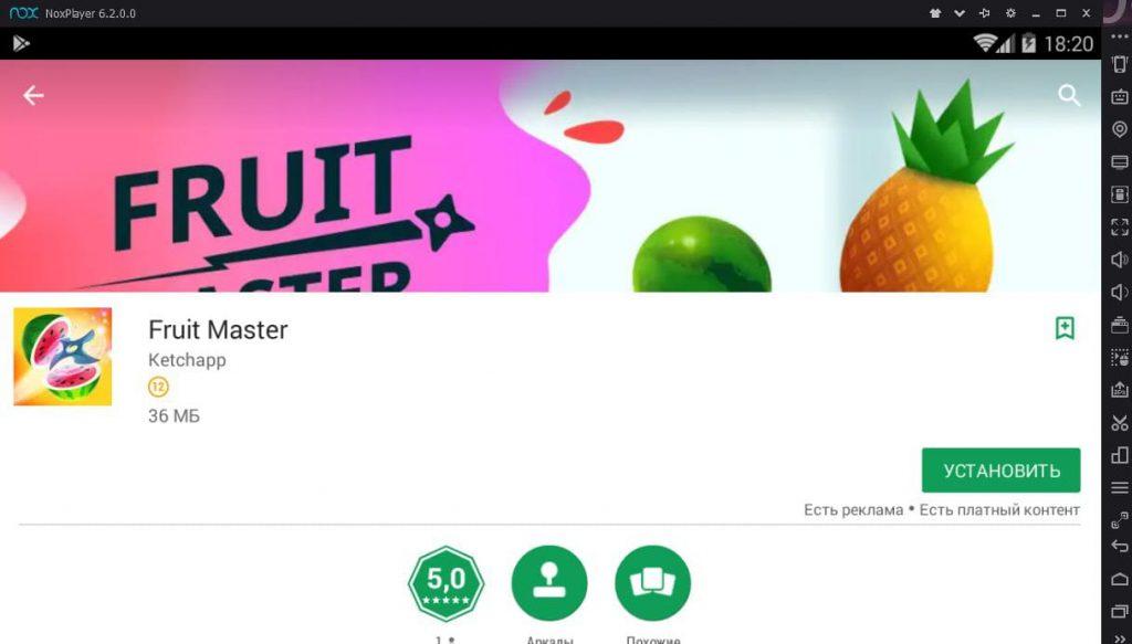 fruit master установка на ПК