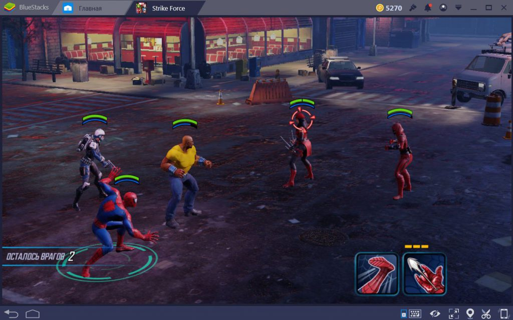 Marvel strike Force на компьютер