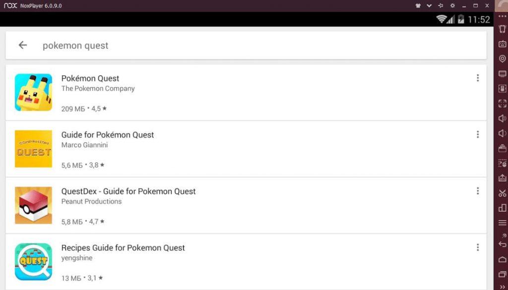 Pokemon Quest установка на ПК